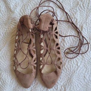 Zara Flats Cut Out Shoes Ballerinas Size 38